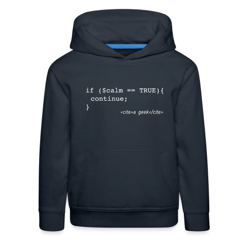 Coder's Keep Calm (with white text) - Kids' Premium Hoodie