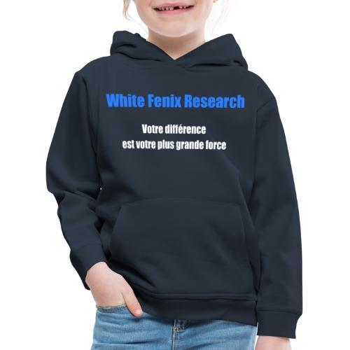 WFR Votre différence est votre plus grande force - Pull à capuche Premium Enfant
