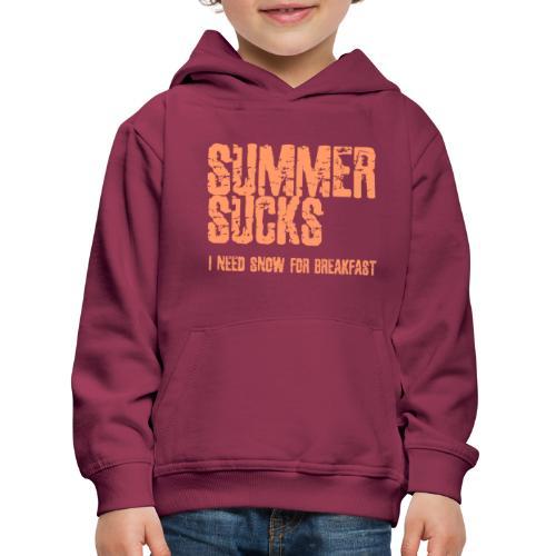 SUMMER SUCKS - Kinderen trui Premium met capuchon