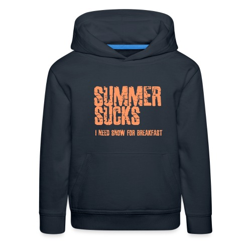 SUMMER SUCKS - Kids' Premium Hoodie