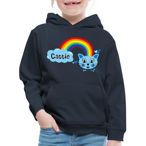 Motif Cattie - Pull à capuche Premium Enfant