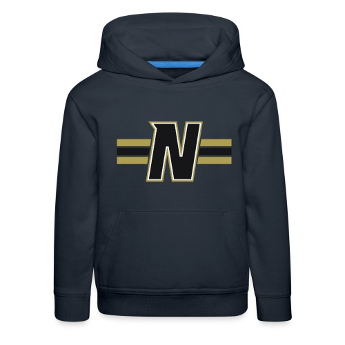 Nordic Steel Black N with stripes - Kids' Premium Hoodie