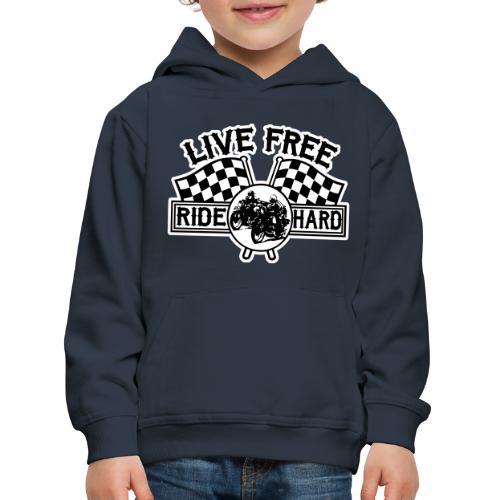 Live Free Ride Hard - Sudadera con capucha premium niño