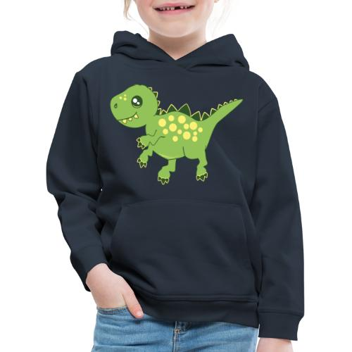 Dino voraz - Sudadera con capucha premium niño