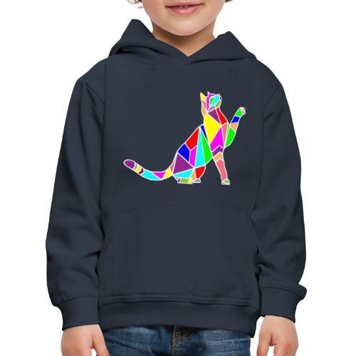 cat colors white pet animal art composicion - Felpa con cappuccio Premium per bambini