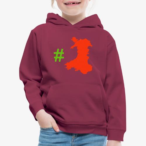 Hashtag Wales - Kids' Premium Hoodie
