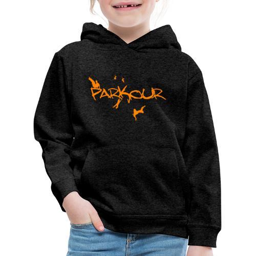Parkour Orange - Premium hættetrøje til børn