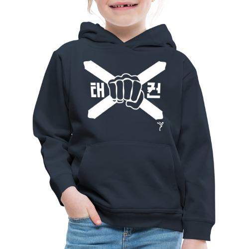Scotland Taekwondo ITF fist and flag motif - Kids' Premium Hoodie