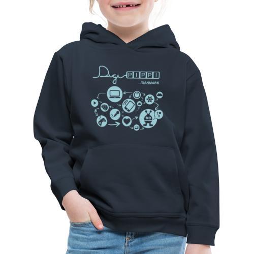 DigiPippi Danmark Blue - Premium hættetrøje til børn