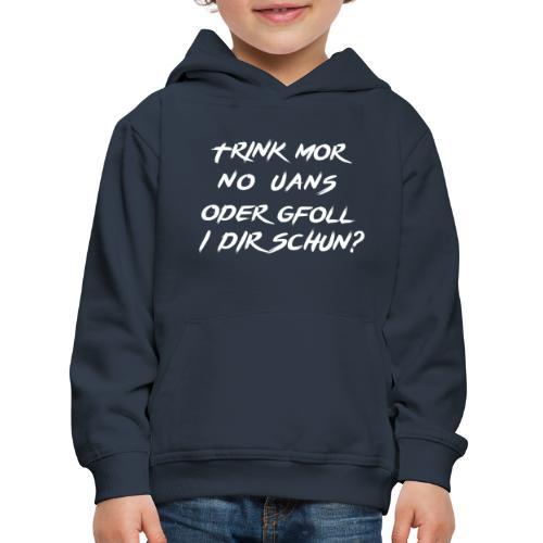 trink mor no uans... - Kinder Premium Hoodie