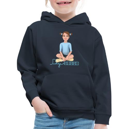 DigiPippi - maskot og logo - Premium hættetrøje til børn