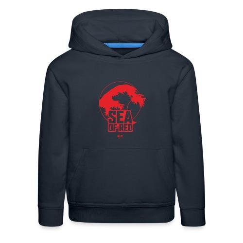 Sea of red logo - red - Kids' Premium Hoodie