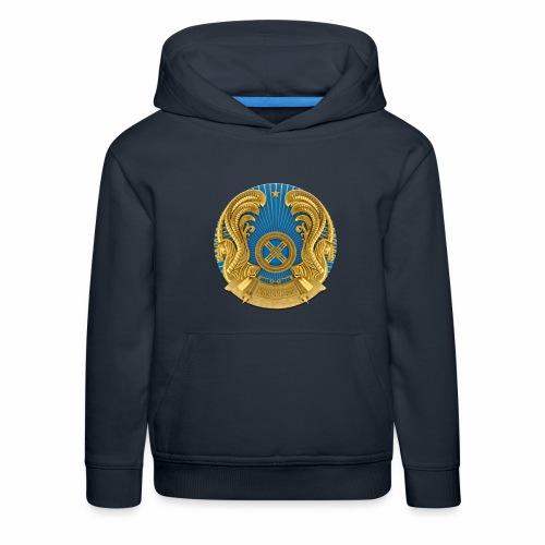 Kasachstan Казахстан Герб Wappen T-Shirts 2c - Kinder Premium Hoodie