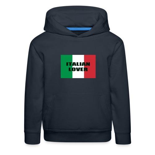 ITALIAN LOVER - Felpa con cappuccio Premium per bambini