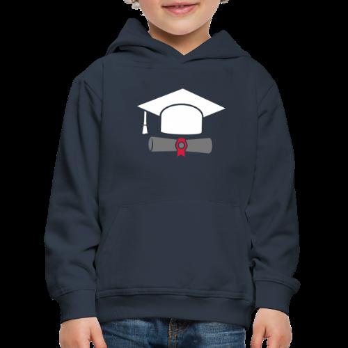 Doktorhut mit Zeugnis - Geschenk zum Abschluss - Kinder Premium Hoodie