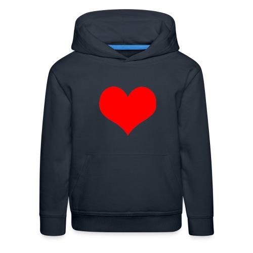 rotes Herz - Kinder Premium Hoodie