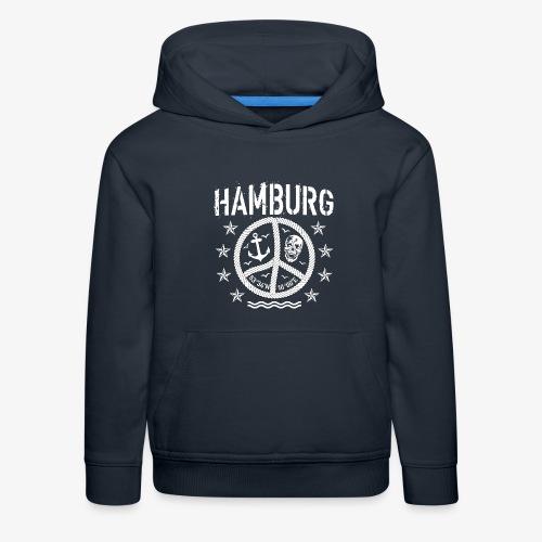 105 Hamburg Peace Anker Seil Koordinaten - Kinder Premium Hoodie
