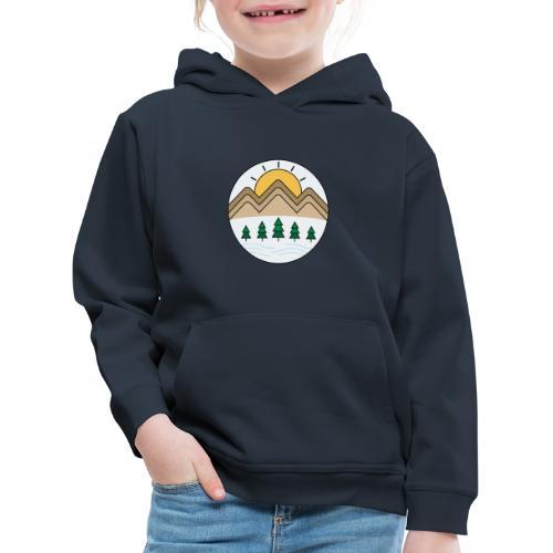 Zon achter de bergen - Kinderen trui Premium met capuchon