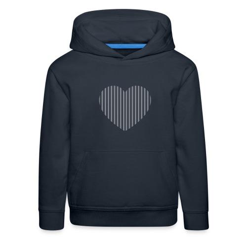 heart_striped.png - Kids' Premium Hoodie