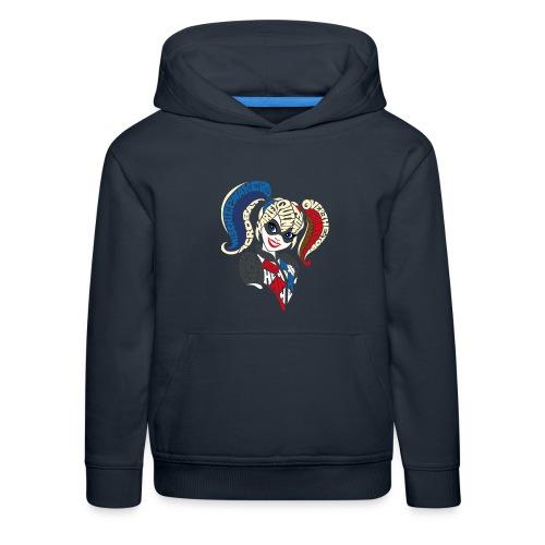 DC Super Hero Girls Harley Quinn Typografie - Kinder Premium Hoodie