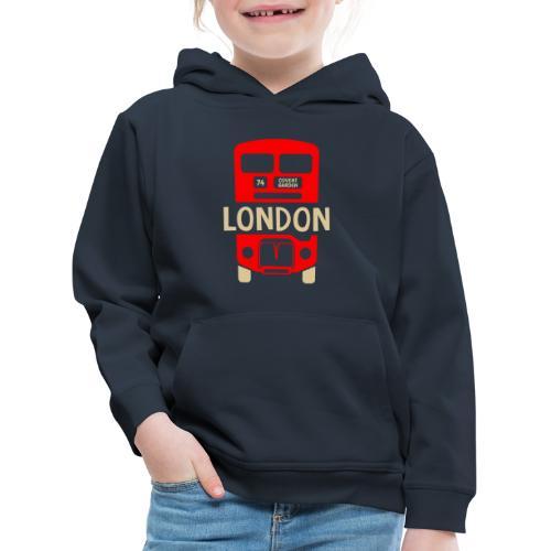 London Bus Roter Doppeldecker London Fan Souvenir - Kinder Premium Hoodie