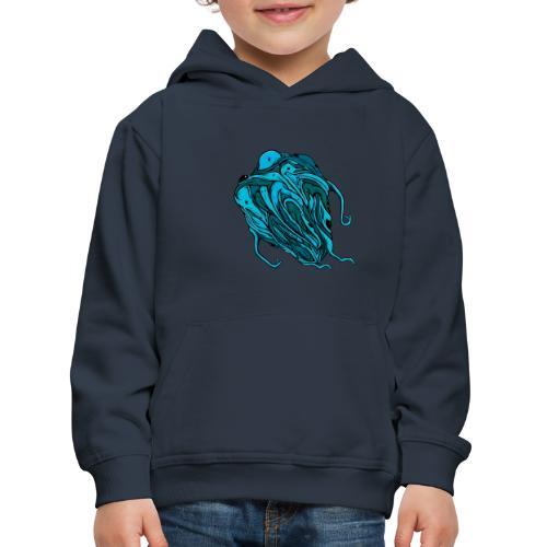 Flying blue blob - Kids' Premium Hoodie
