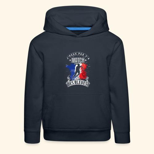 Les Bleues FOOTBALLEUSE - Equipe de France féminin - Pull à capuche Premium Enfant