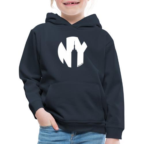 Logo French Yorker blanc - Pull à capuche Premium Enfant