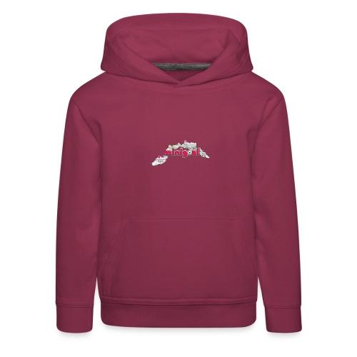 Maglietta Donna Liguria - Felpa con cappuccio Premium per bambini