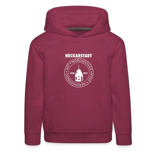 Neckarstadt – Blog seit 2014 (Logo hell) - Kinder Premium Hoodie