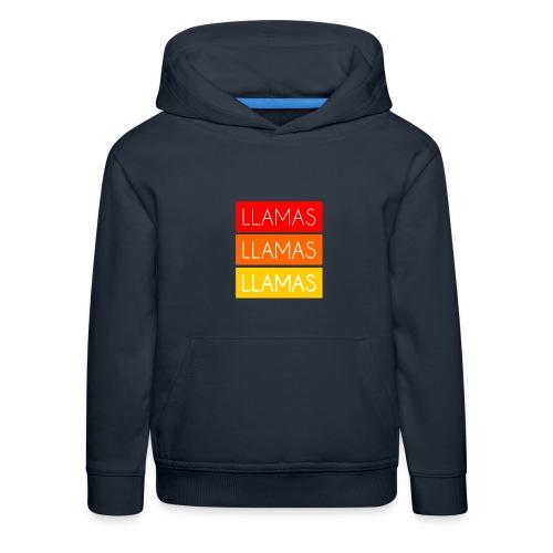 Llamas Llamas Llamas - Premium hættetrøje til børn