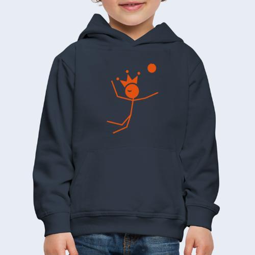 Volleybalkoning - Kinderen trui Premium met capuchon