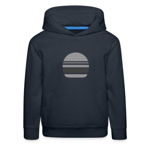 Logo_panhamburger_gris - Pull à capuche Premium Enfant