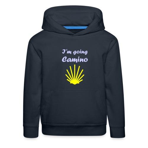 Going Camino - Premium hættetrøje til børn