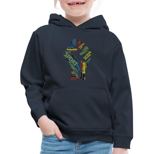Sport tag hand - Felpa con cappuccio Premium per bambini