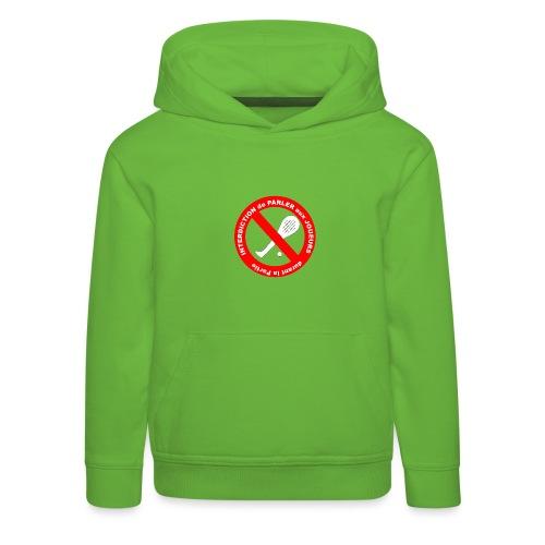 Noplay1 png - Pull à capuche Premium Enfant