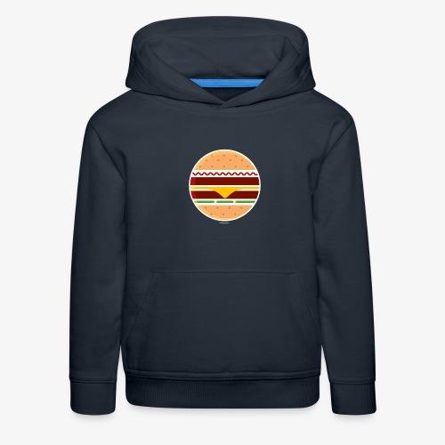 Circle Burger - Felpa con cappuccio Premium per bambini
