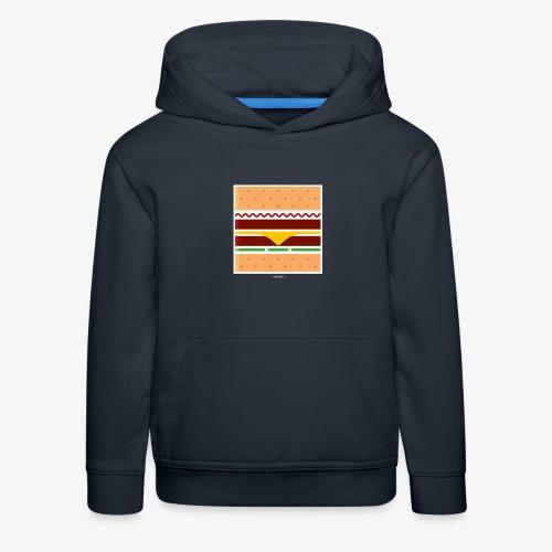 Square Burger - Felpa con cappuccio Premium per bambini