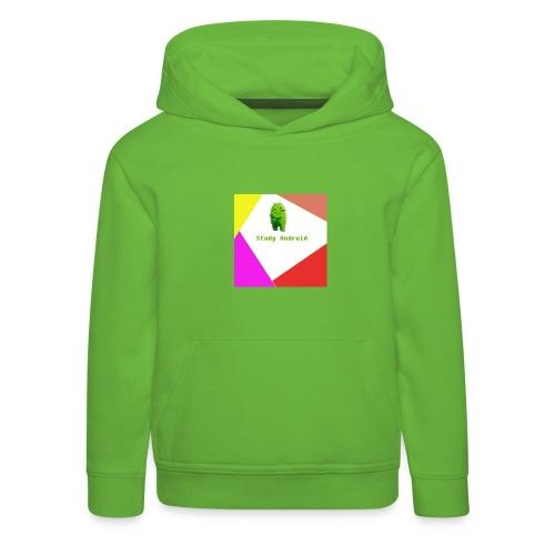Study Android - Sudadera con capucha premium niño