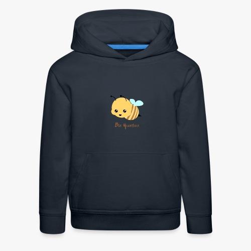 Bee Yourself - Premium hættetrøje til børn