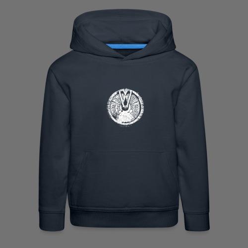 Maschinentelegraph (biały oldstyle) - Bluza dziecięca z kapturem Premium
