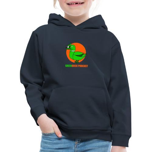 Greenduck Podcast Logo - Premium hættetrøje til børn