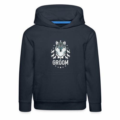 161 Wolf JGA GROOM Wolfpack Sterne - Kinder Premium Hoodie