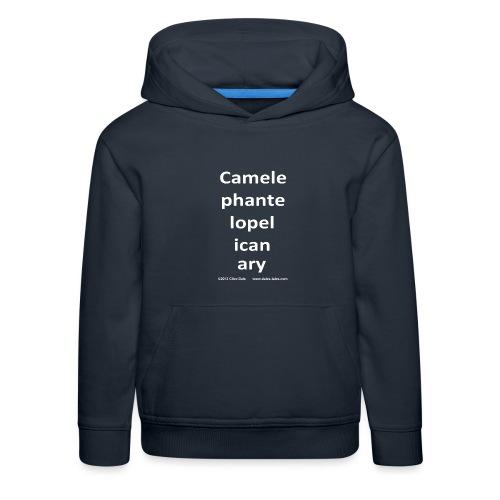 camelepha 5lines white - Kids' Premium Hoodie