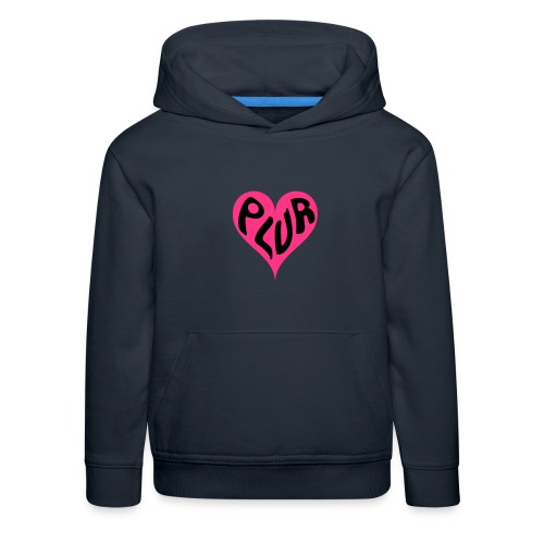 PLUR - Peace Love Unity and Respect love heart - Kids' Premium Hoodie