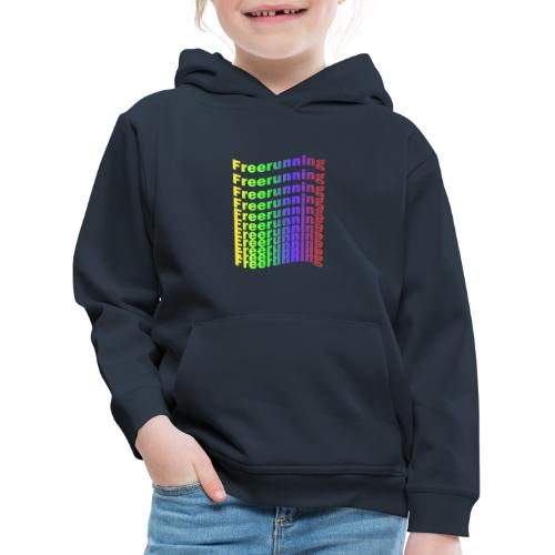Freerunning Rainbow - Premium hættetrøje til børn