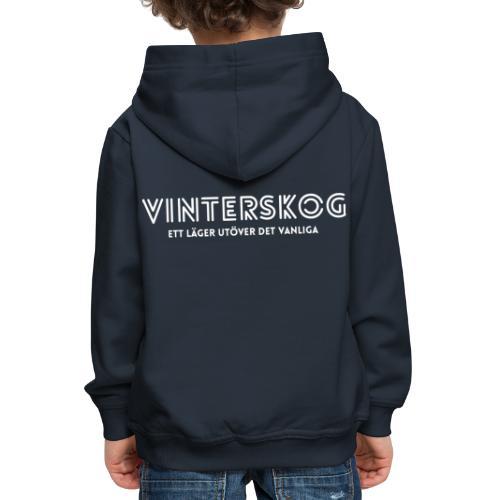 Vinterskog med vitt tryck - Premium-Luvtröja barn