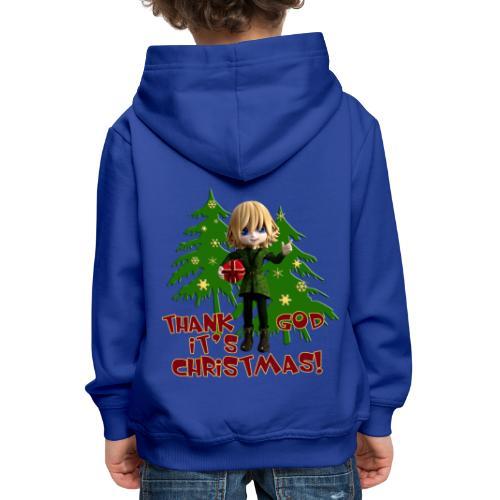 Weihnachtself Thank God it´s Christmas! - Kinder Premium Hoodie
