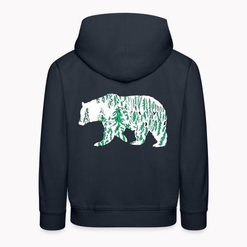 Ours neige nature montagnes faune grizzly - Pull à capuche Premium Enfant