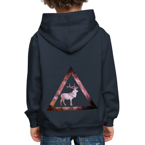 Galaxy Deer Geometry Triangle - Kinder Premium Hoodie